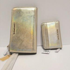 db03a2efe61704 Michael Kors Bags - Michael Kors Hologram Iridescent Wallet + Wristlet